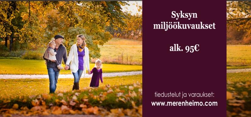 miljöökuvaus syksyllä