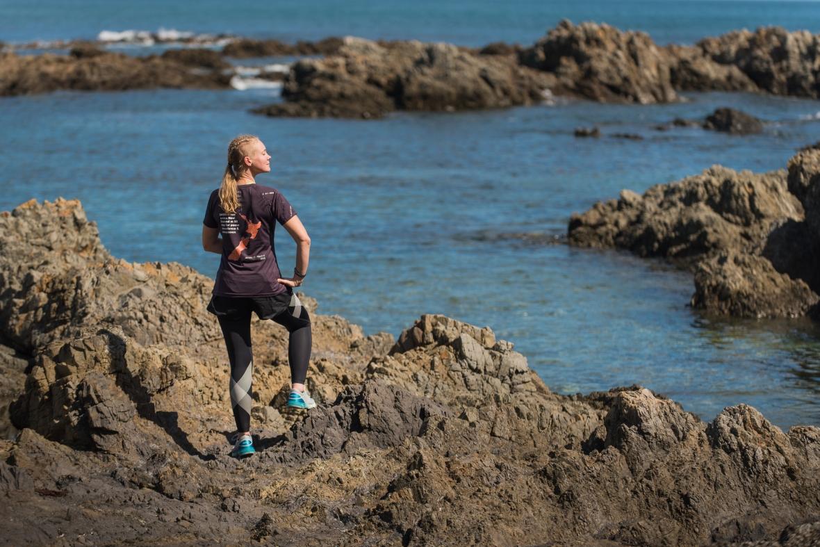 Emilia Lahti Sisu not silence at Island Bay prior to her run through NZ
