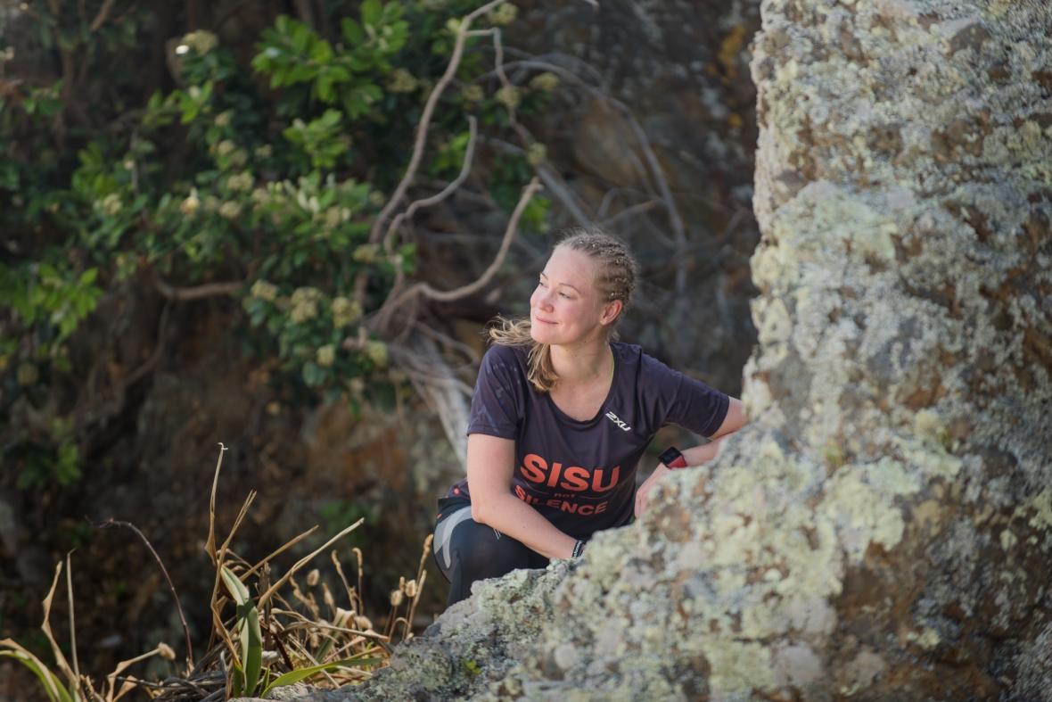 Emilia Lahti Sisu not silence getting ready to run through New Zealand